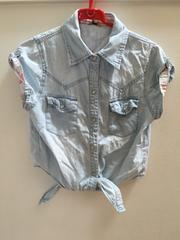 150サイズ/半袖薄デニム羽織り
