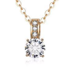 【特A】ゴールド ダイアモンド ネックレス 3ct 新品
