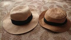 麦わら帽子2点 GUと雑貨屋さん購入