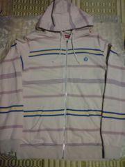 半額以下!supreme2008s/s stripe full zip hoodie XL