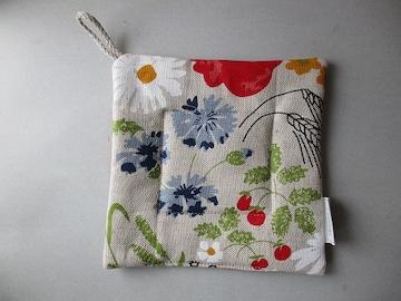 リネン 花柄 鍋敷き ミトン ラトビア 雑貨