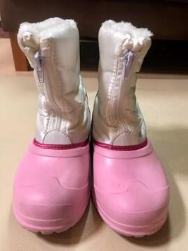 �@ kids用スノーブーツ ホワイト ピンク 21.0 超美品です♪