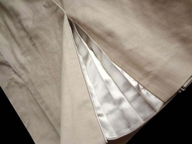 メルローズ MELROSE プリーツ使い 膝丈 スカート 3 ベージュ < ブランドの