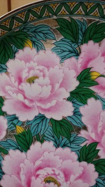 木仙窯→九谷紋様洋式→総牡丹花柄図皿→窯因→ < ホビーの