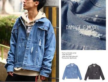 【NEW】デニムGジャンモデルクラッシュジャケット2色