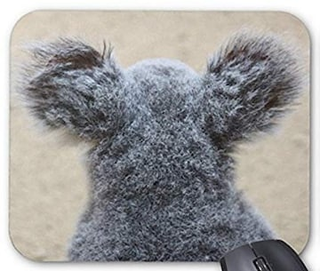 かわいいコアラの後ろ姿のマウスパッド