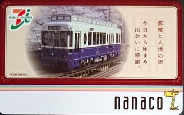 [ご当地nanaco]東京・ナナコカード�A 都電と桜 セブンイレブン