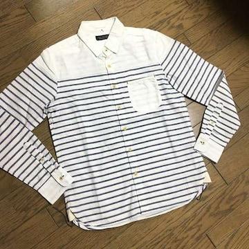 美品NANO UNIVERSE デザインシャツ ナノユニバース