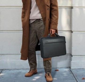 撥水加工ナイロンビジネスバッグ A4対応ブラック