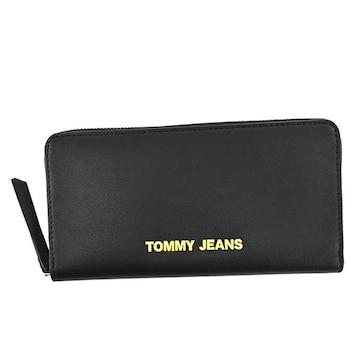 ◆新品本物◆トミージーンズ ラウンドファスナー長財布(BK)『AW0AW08596』◆