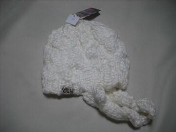 wb330 女 BILLABONG ビラボン ニット帽 ビーニー 白