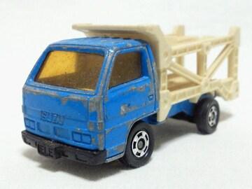 絶版トミカ��14 いすゞ エルフカーキャリア 日本製