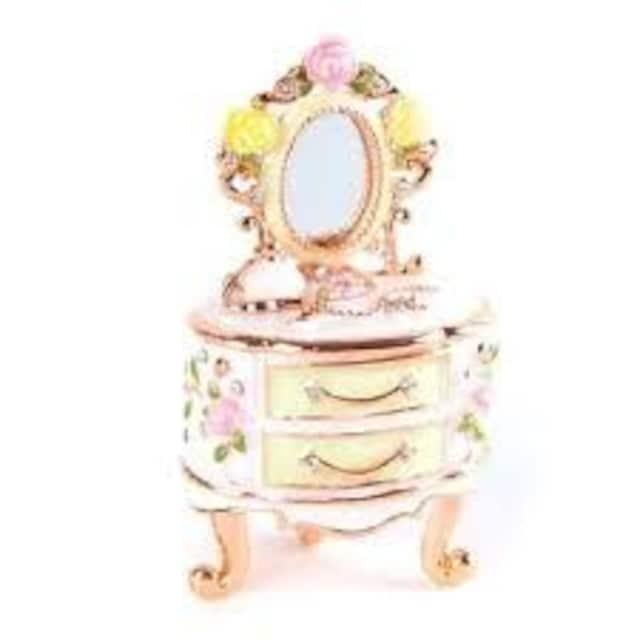 【Piearth/ピィアース】キラキラ高級感♪ジュエリーボックス宝石箱ドレッサー < 女性アクセサリー/時計の