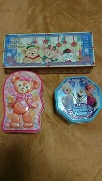 ディズニー缶 10個 ダッフィー シェリーメイ Disneyジェラトーニ