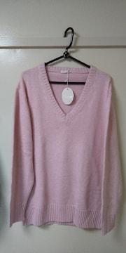 綿100ピンク色のセーター♪LL未使用品