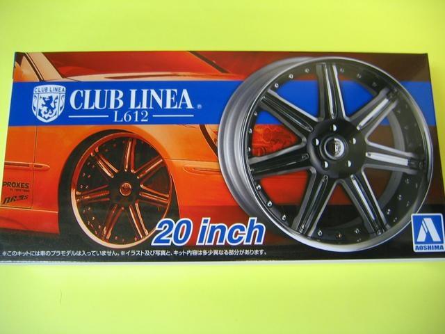 アオシマ 1/24 ザ・チューンドパーツ No.28 クラブリネア L612 20インチ 極タイヤ  < ホビーの