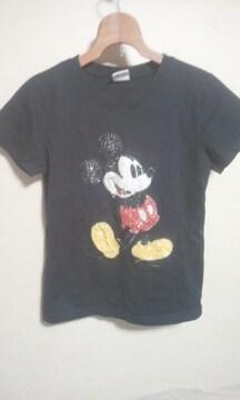 ミッキーマウスの スパンコール刺繍のTシャツM