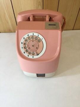 ピンク公衆電話 昭和レトロ アナログ電話