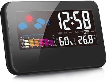 デジタル  目覚まし時計  湿度計 温度計 LCD大画面