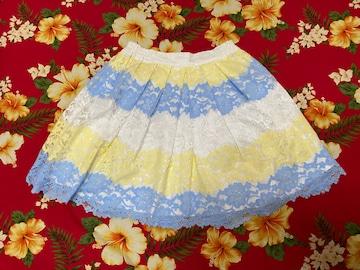 dazzlin☆爽やか☆綺麗な三色☆可愛いレーススカート☆