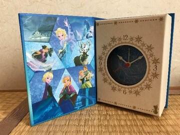新品★アナと雪の女王 ブック型クロック 時計 アナ雪