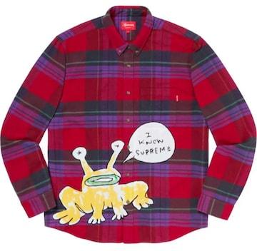 Supreme Daniel Johnston Plaid Shirt 赤 L シャツ