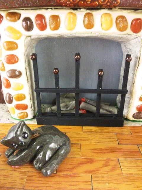 〓ハンドメイド〓〓ぽちゃ猫他〓暖炉でほっこり猫3匹〓ミニチュアハウ〓〓 < ペット/手芸/園芸の