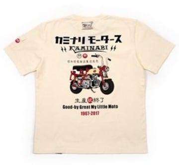 カミナリモータース/ホンダ/モンキー/Tシャツ/白/XXL/Kmt-171/エフ商会/テッドマン