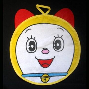 ☆【ドラミちゃん】ループ付ハンドタオル(丸)