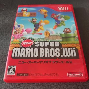 Wii!箱あり!NewスーパーマリオブラザーズWii!ソフト!