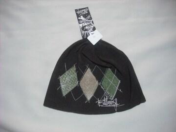 mb161 男 BILLABONG ビラボン 茶 ニット帽