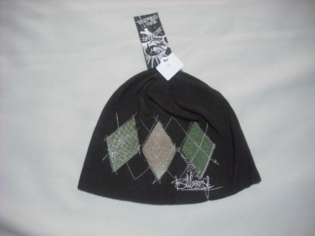 mb161 男 BILLABONG ビラボン 茶 ニット帽  < ブランドの