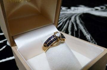 ■■格安■■輝くダイヤモンド&サファイヤの美ハーモニー!