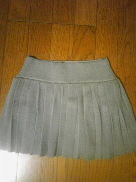 moussyグレープリーツニットミニスカート美品