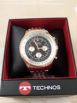 S027 新品★ テクノス 腕時計 メンズ 定価35,000  クロノグラフ