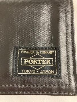 PORTER ポーター カードケース 名刺入れ ブラック コンパクト しっとり