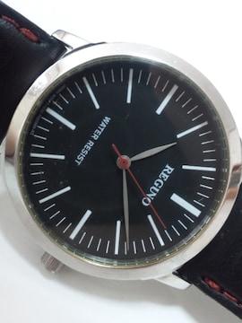 10786/シチズン★REGUNOレグノ素敵なラウンドフェイスメンズ腕時計ブラック!