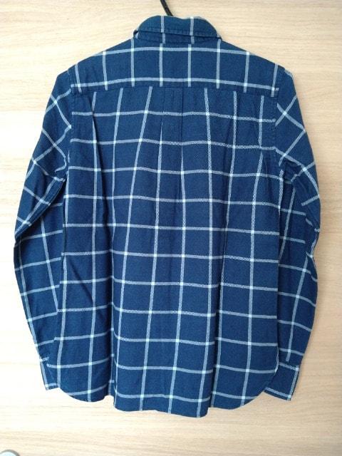MUJI 無印良品 インディゴチェックシャツ S 新品タグ付き < ブランドの