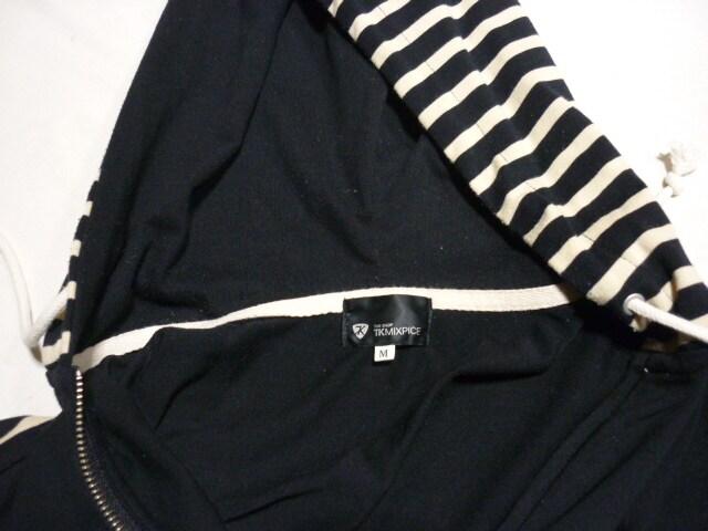 フルジップボーダーパーカアメカジクリームソーダロカビリー50's < 男性ファッションの