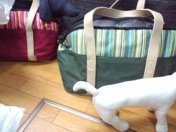 ペットキャリートートバッグ犬猫送kgPetCarryBag小動物帰省鞄手荷物450緑