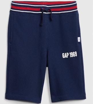 新品GAP☆130 ロゴ ハーフパンツ ネイビー ギャップ