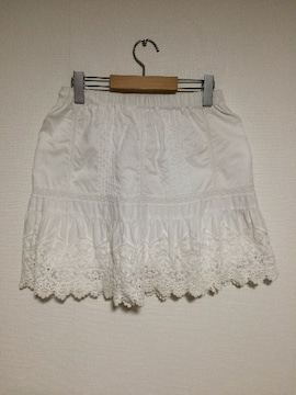 IENA コットンレーススカート