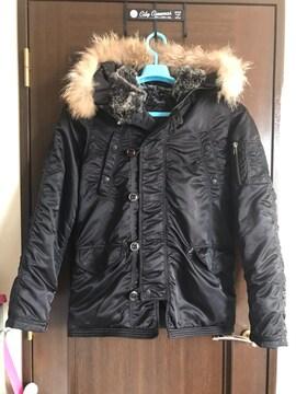 美品 ミリタリーN3-Bジャケット Mサイズ ブラック 軍物