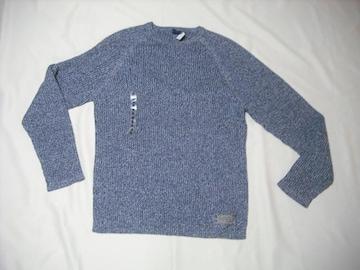 15 男 NAUTICA ノーティカ 紺 セーター M