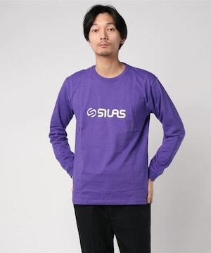 新品 SILAS サイラス ロンTシャツL紫ロゴ カットソー