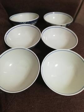 ☆激安☆大幅値下げ梅柄と蝶柄お茶碗6点セット(未使用)