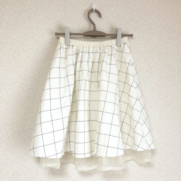 ブラウニー チェック×チュール リバーシブルスカート BROWNY♪