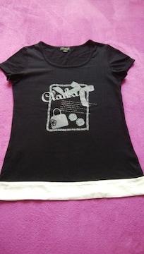 CLATHAS  クレイサス バイカラー Tシャツ 黒 38