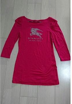 バーバリー ブラックレーベル 7分丈Tシャツ サイズ38 ピンク