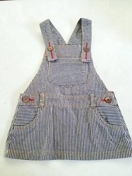 ヒッコリー柄、ジャンバースカート、95